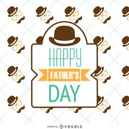 Retro Father's Day pattern