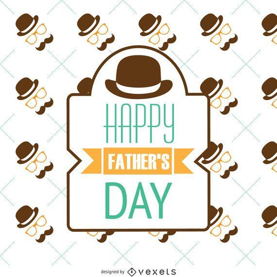 Padrão Retro do Dia dos Pais