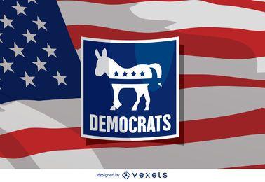 Burro demócrata de las elecciones estadounidenses