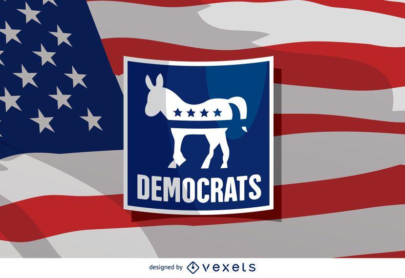Burro demócrata de las elecciones de Estados Unidos