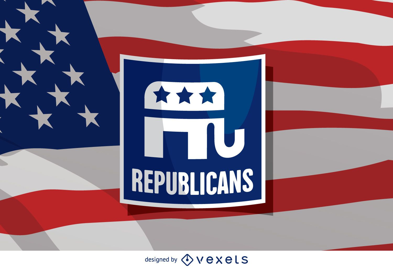 US Republican elephant badge