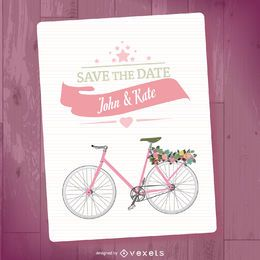 Save the date mockup