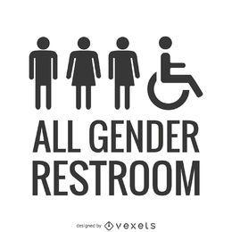 LGBT todo o banheiro de gênero