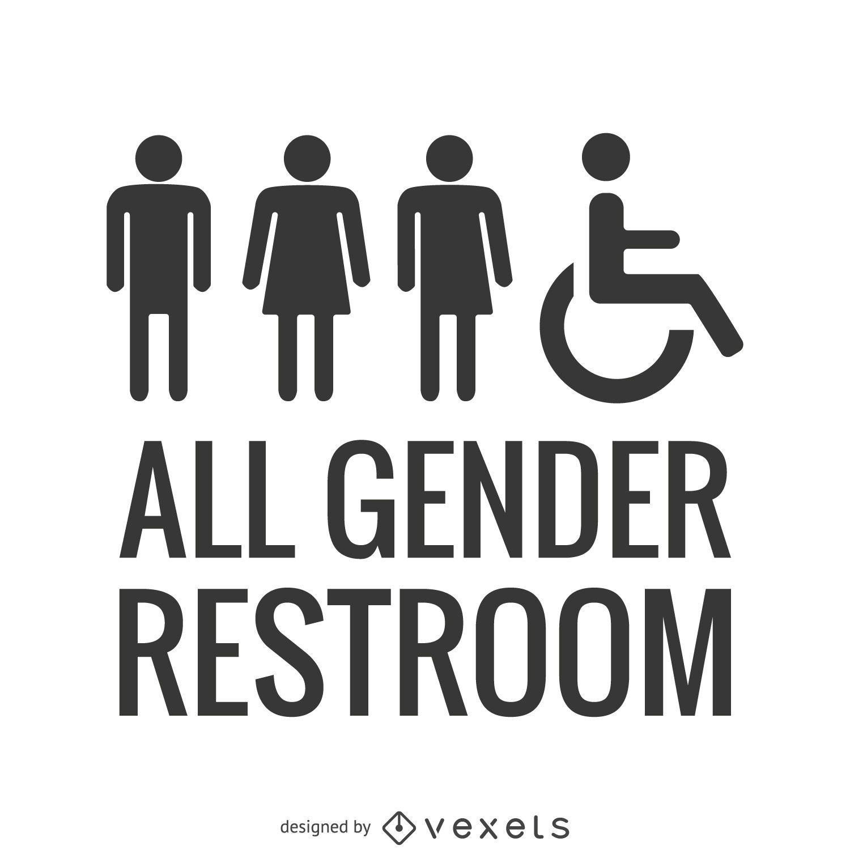Baño para todos los géneros LGBT