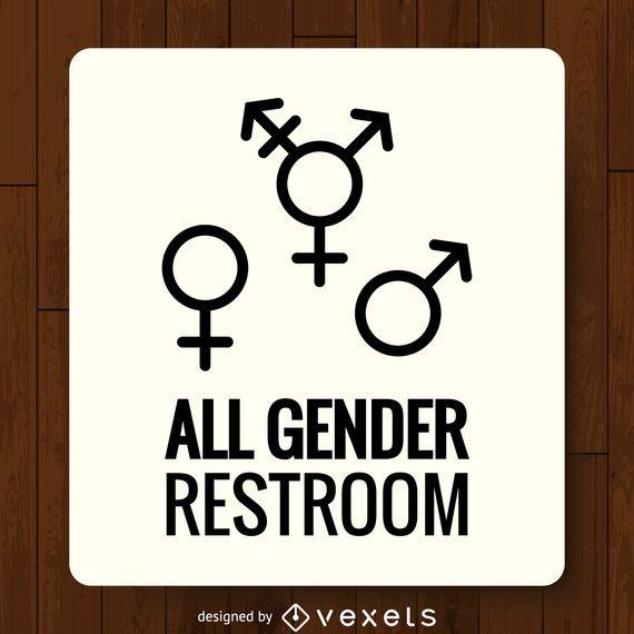 Etiqueta de baño LGBT géneros