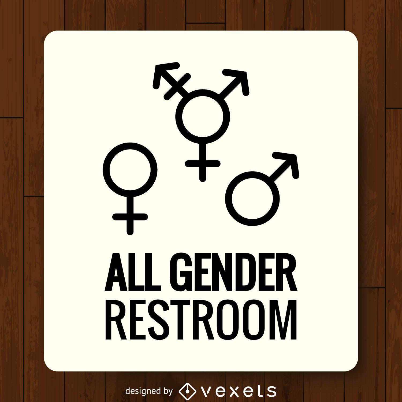 Etiqueta de banheiro de gêneros LGBT