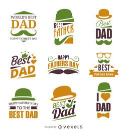 Conjunto de etiquetas de insignia del día del padre
