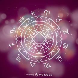Roda dos signos do zodíaco