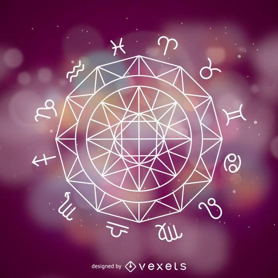 Roda de sinais do Zodíaco