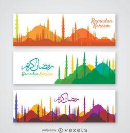 Colección de banners de Skyline Ramadán