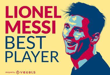 Ilustração do melhor jogador de Lionel Messi