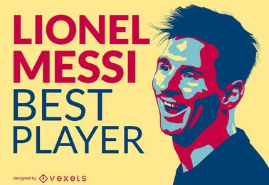 Lionel Messi best player illustration