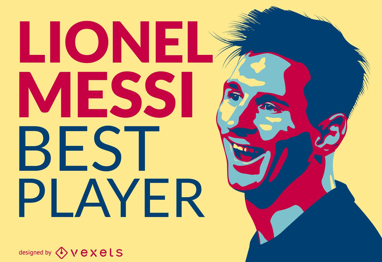 Lionel Messi mejor jugador ilustraci?n