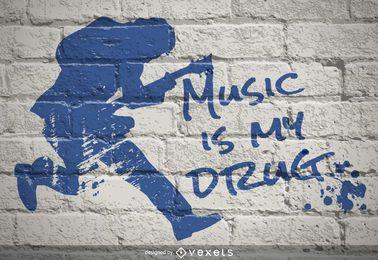 A música é minha droga de graffiti