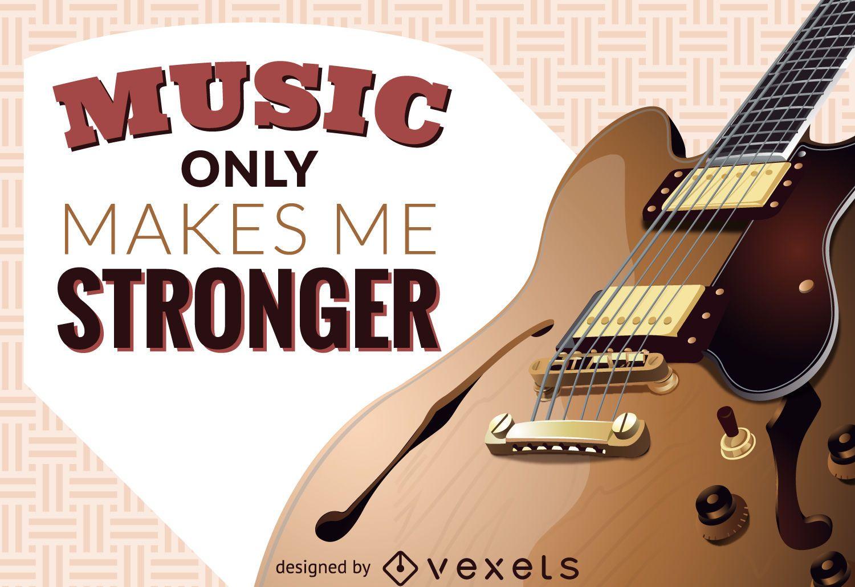 Music makes me stronger illustration