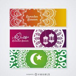 Conjunto de faixa de mandala de Ramadam