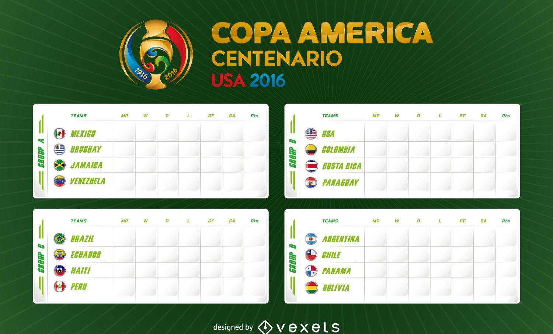 Copa America 2016 fixture