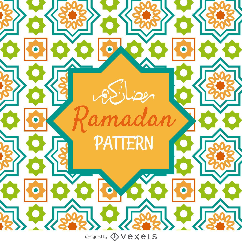 Patrón de mosaico de Ramadán