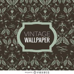 Papel de parede floral do vintage