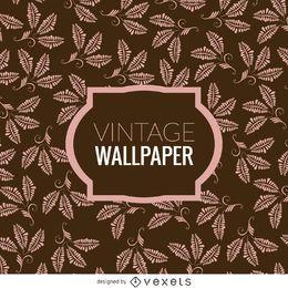 Floral folhas do papel de parede do vintage