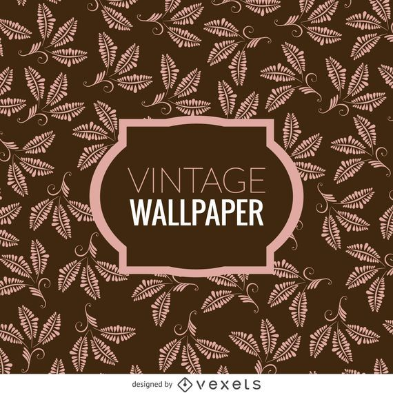 Floral leaves vintage wallpaper