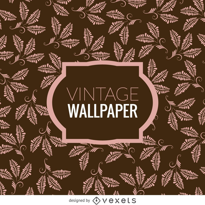 Floral leaves vintage wallpaper