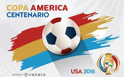 Cartel de la Copa América Centenario