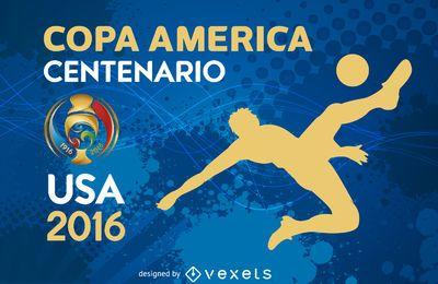 Bandeira de silhueta da Copa América
