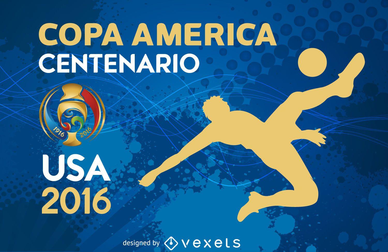 Bandera de silueta de Copa América