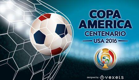 Copa América bandera balón de fútbol