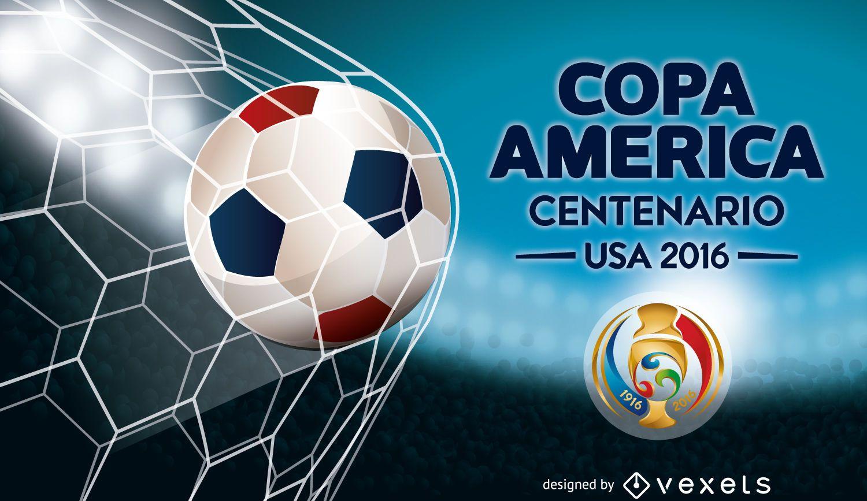 Bandera de balón de fútbol Copa América