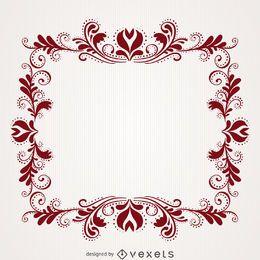 quadro floral do redemoinho