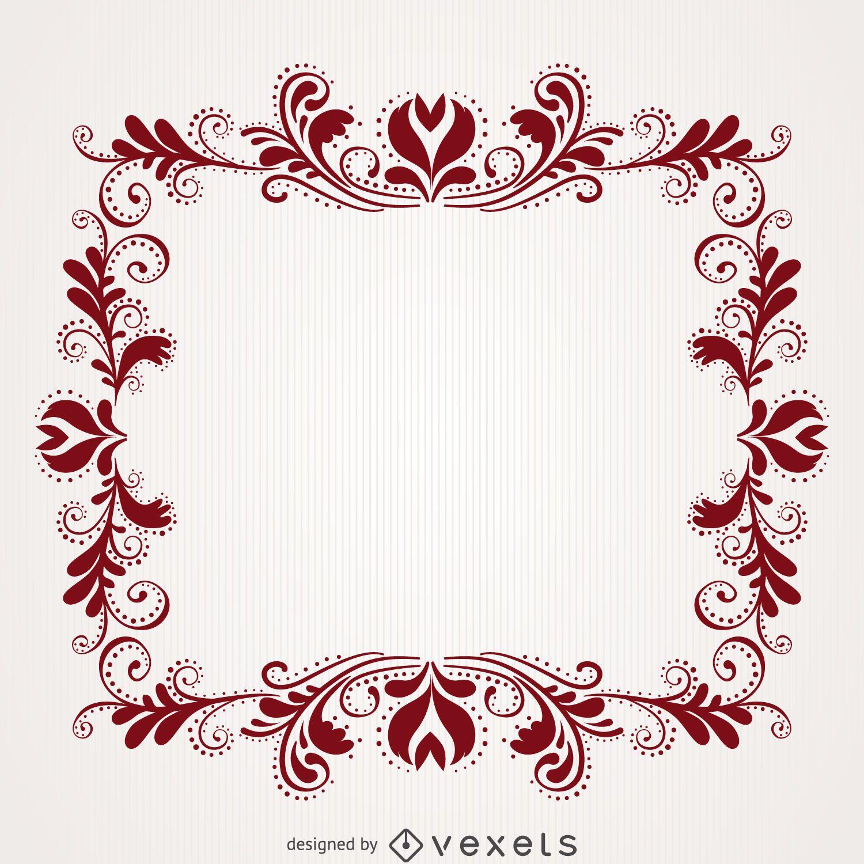 Floral swirl frame