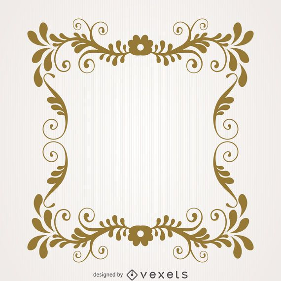 Vintage Floral Swirl Frame Vector Download