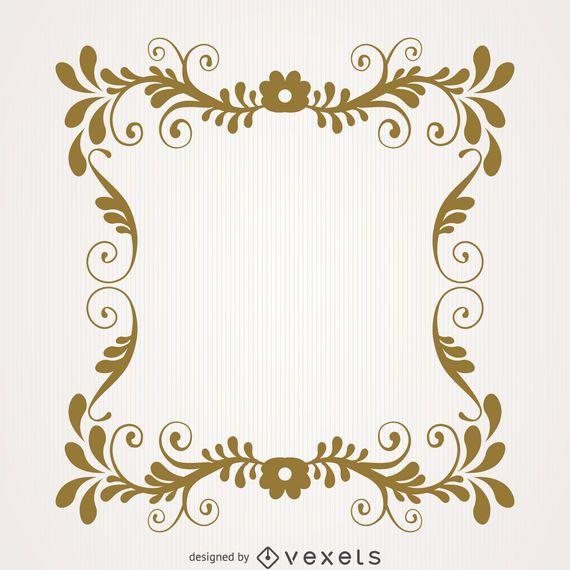 Vintage floral swirl frame