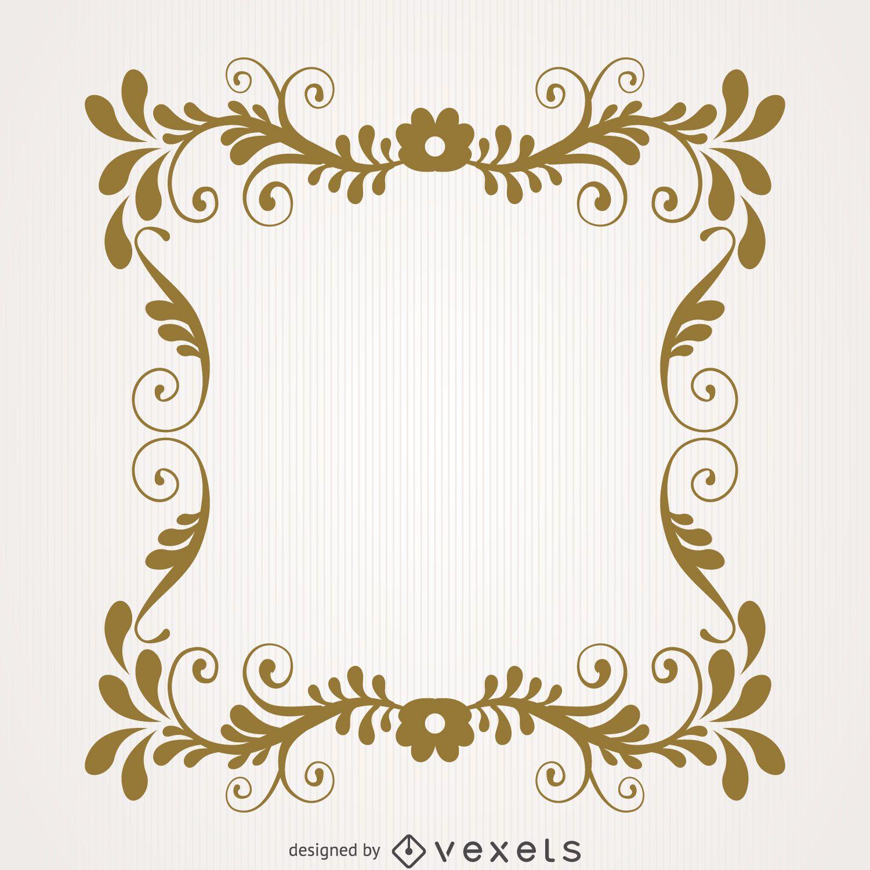 Vintage Floral Swirl Frame Vector Download
