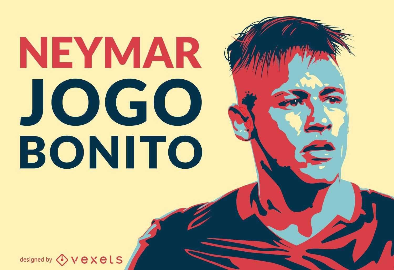 Neymar jogo bonito illustration