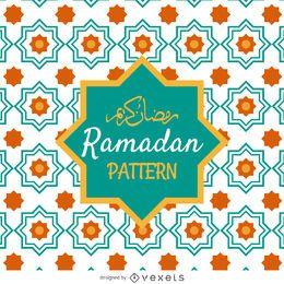 Patrón de azulejos de Ramadán