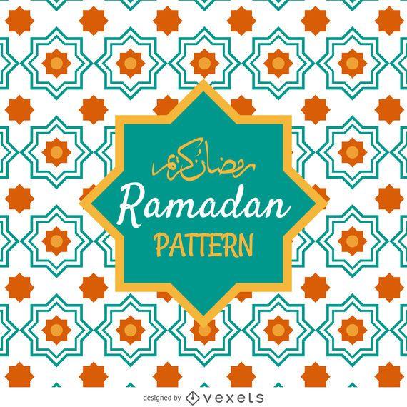 Ramadan patrón de azulejos