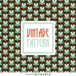 Patrón floral vintage
