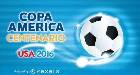 Copa América bandeira bola de futebol