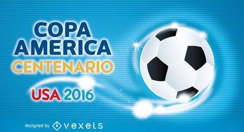 Modelo de banner de futebol da Copa América