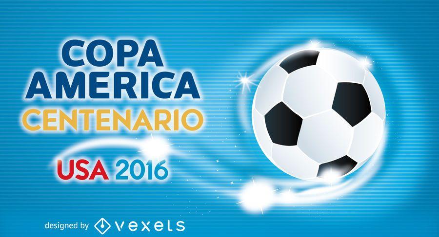 Copa America soccer banner template