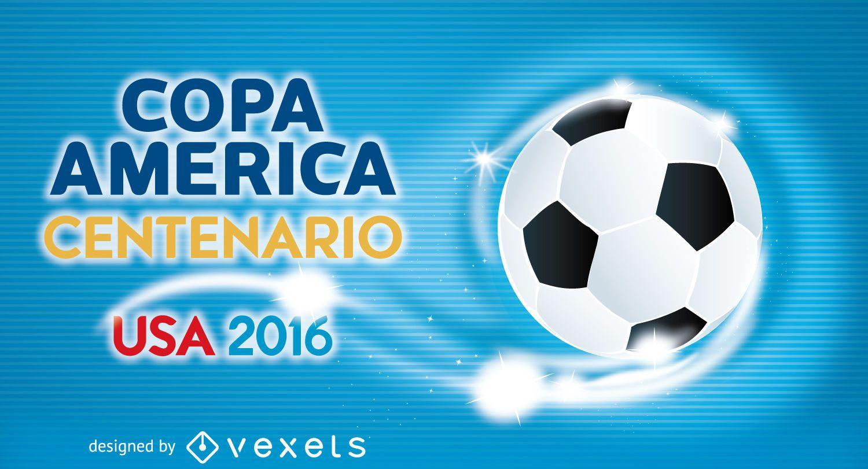 Plantilla de banner de fútbol Copa América