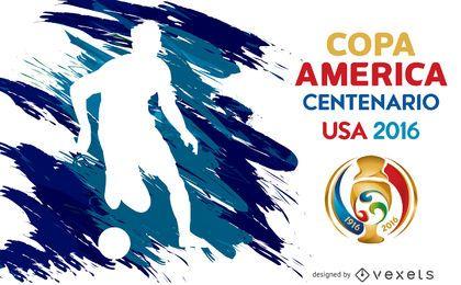 Cartaz da silhueta da Copa América