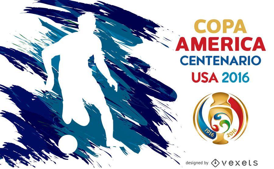 Póster de la silueta de la Copa América