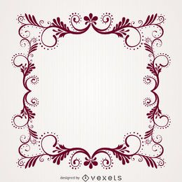 Ornamental decorative floral swirl frame