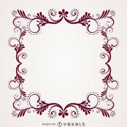 Ornamental decorative floral swirl frame