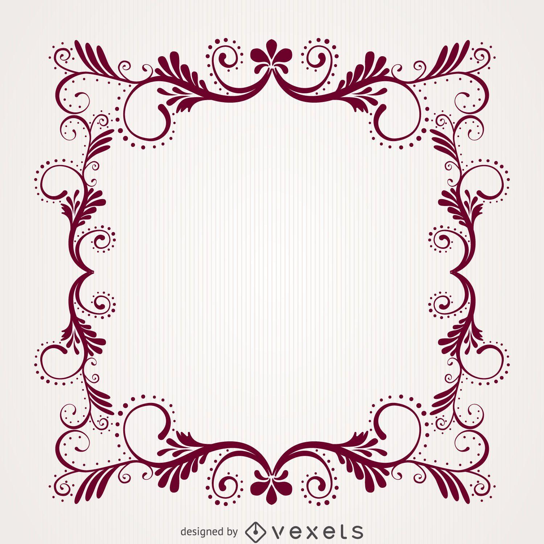 Ornamental decorative floral swirl frame - Vector download