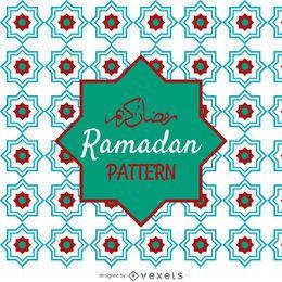 Patrón de mosaico árabe abstracto